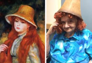 seniors recreate famous paintings