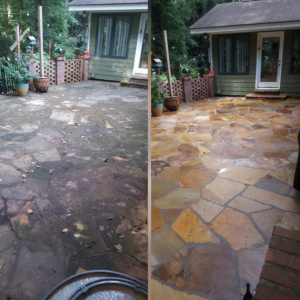 before after power washing