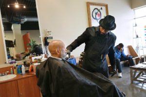 byron cuts hair