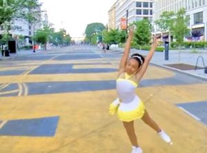 Kaitlyn performs black lives matter plaza