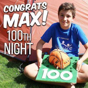 max reaches 100 nights
