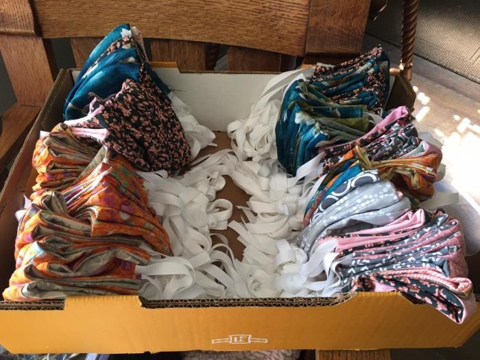 Box of cloth face masks