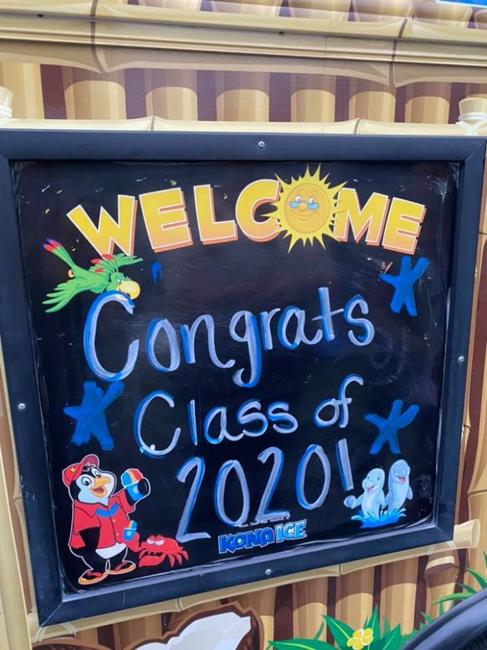 Food Truck sign for class of 2020