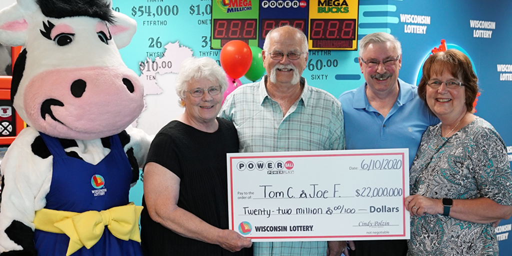 tom and joe with lottery check