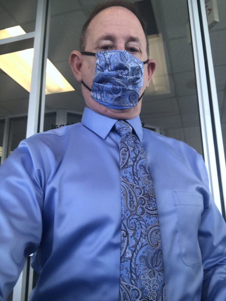 matching mask and tie