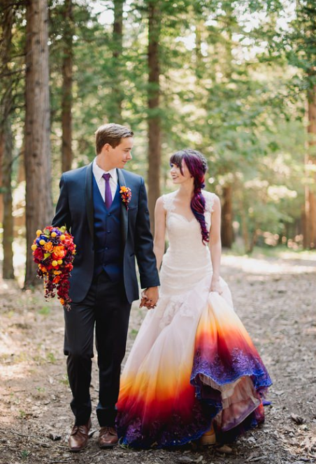 fire wedding dress