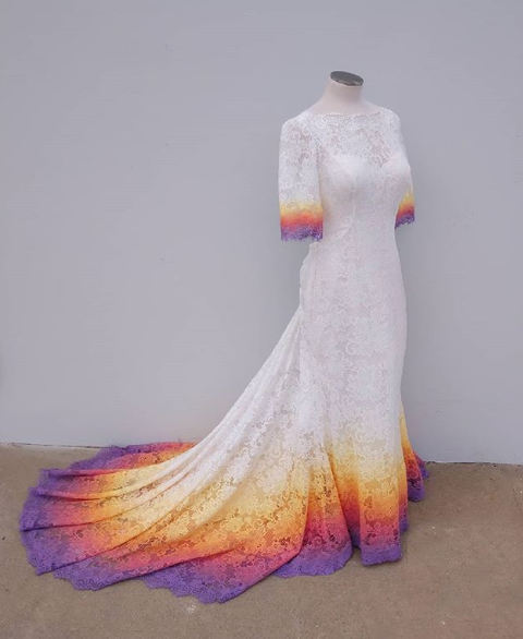 taylor ann painted gown
