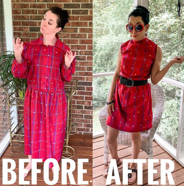 upcycled outfit