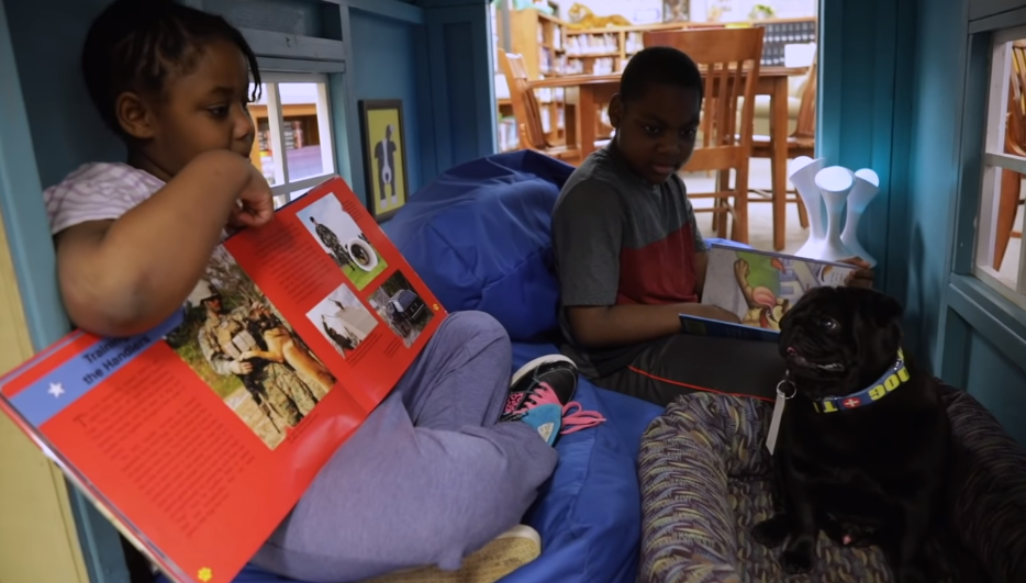kids read to booker