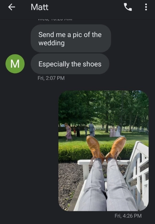 wedding shoes pov