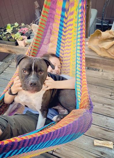 bubby and katharine in hammock