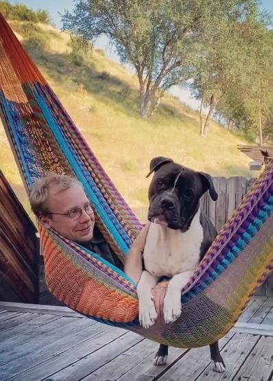 bubby and cody in hammock