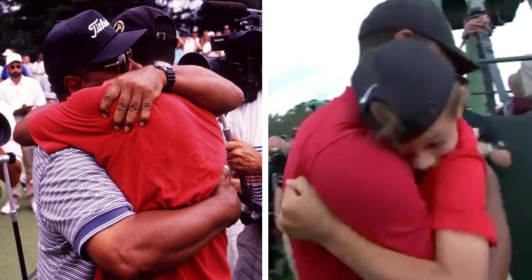 earl tiger and charlie hugs