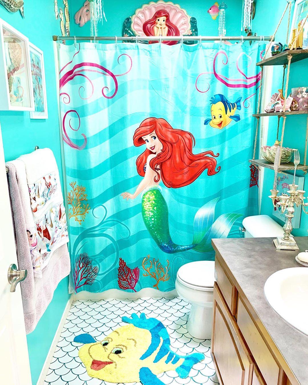 little mermaid bathroom