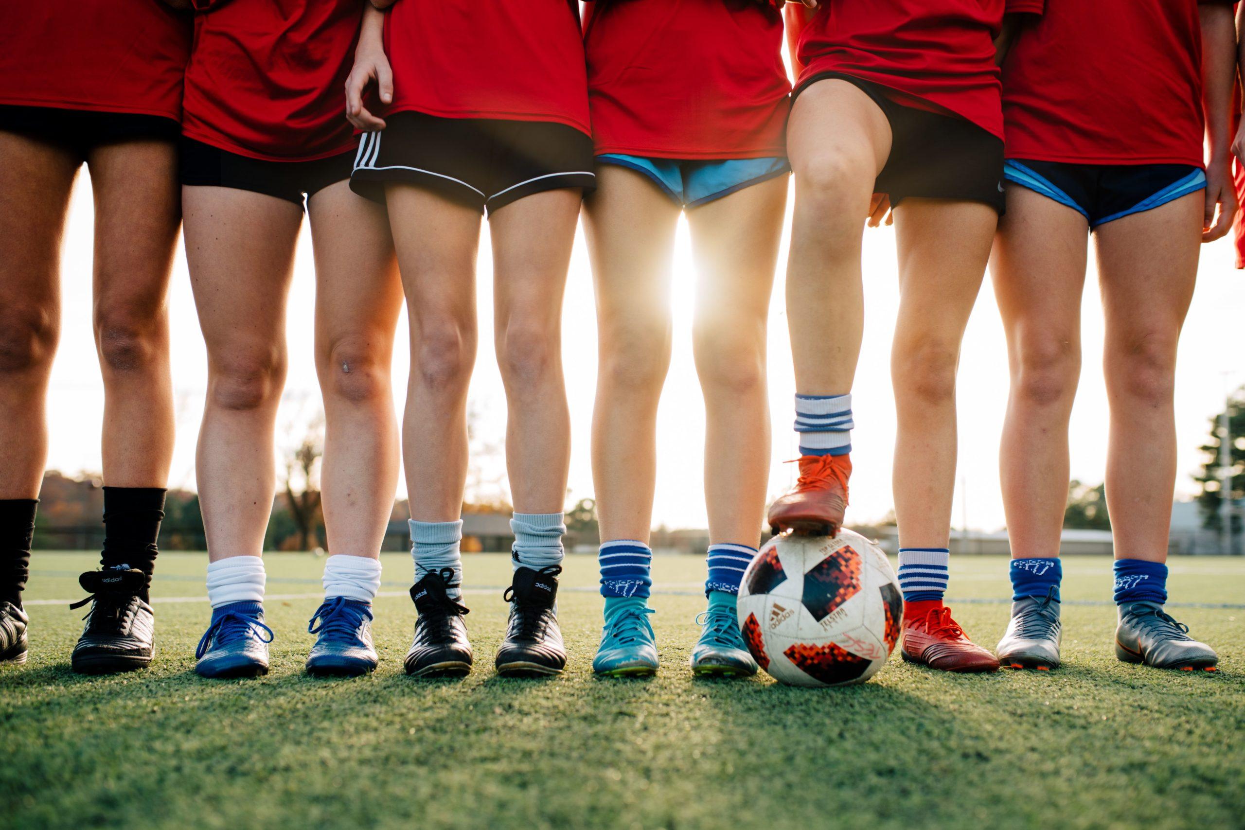 soccer players' legs