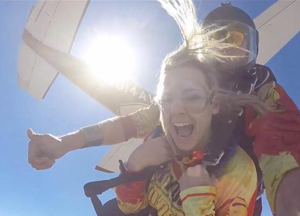 madeline skydiving