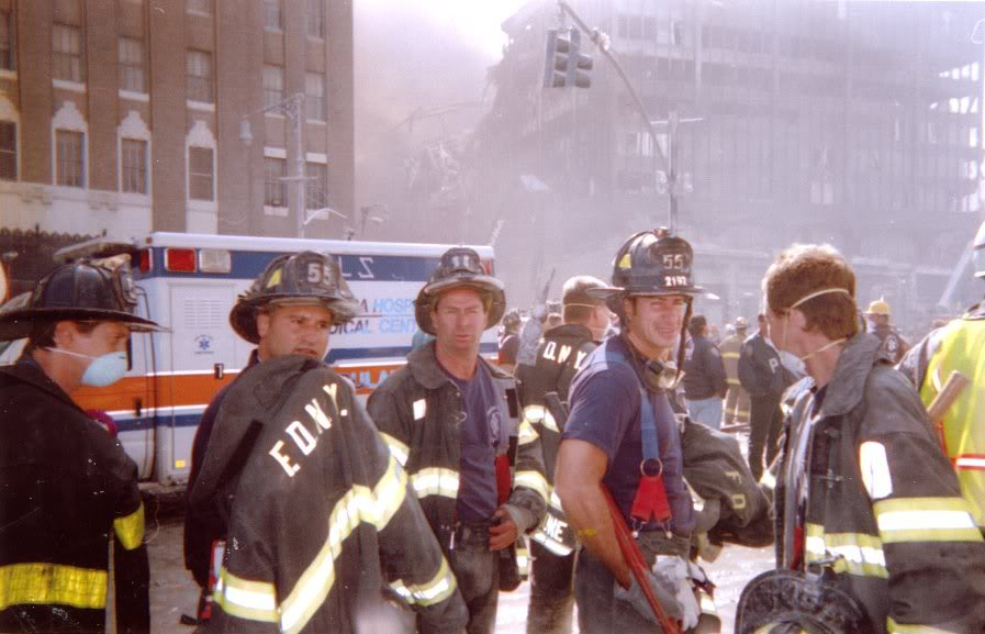 steve buscemi with firefighters on 9/11