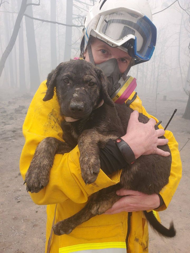 trooper with rescuer