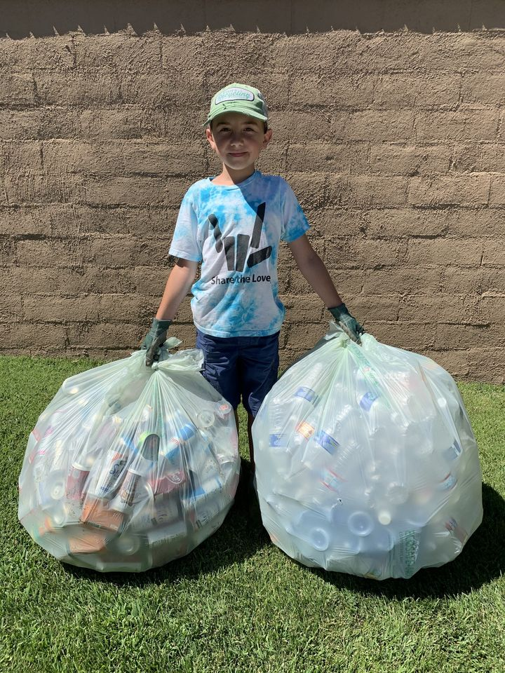 ryan with recycling