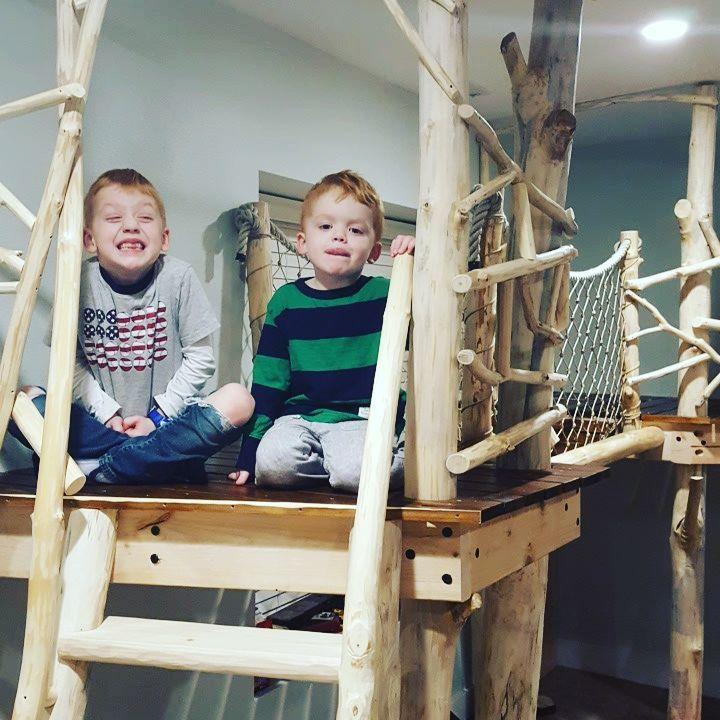 boys in treehouse