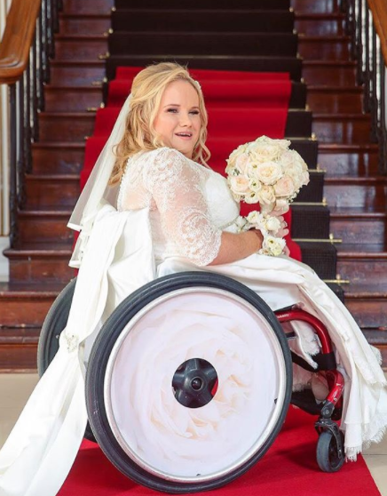 bride with izzy wheels cover