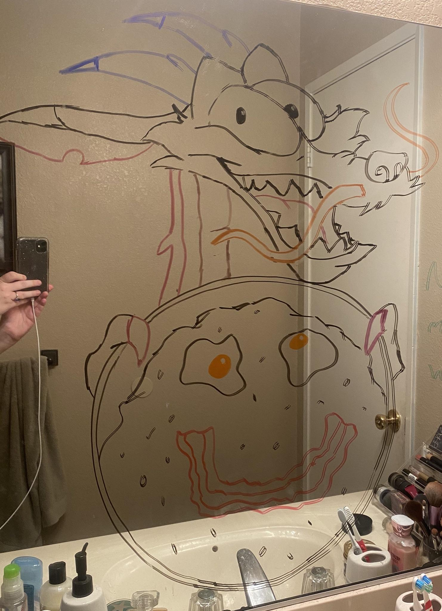 mirror drawing