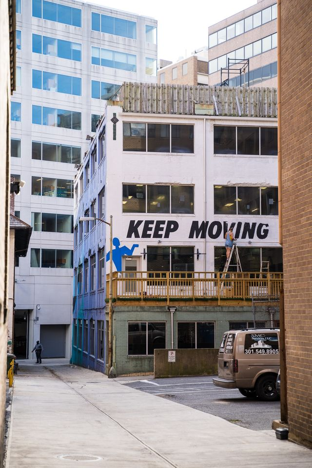 keep moving mural