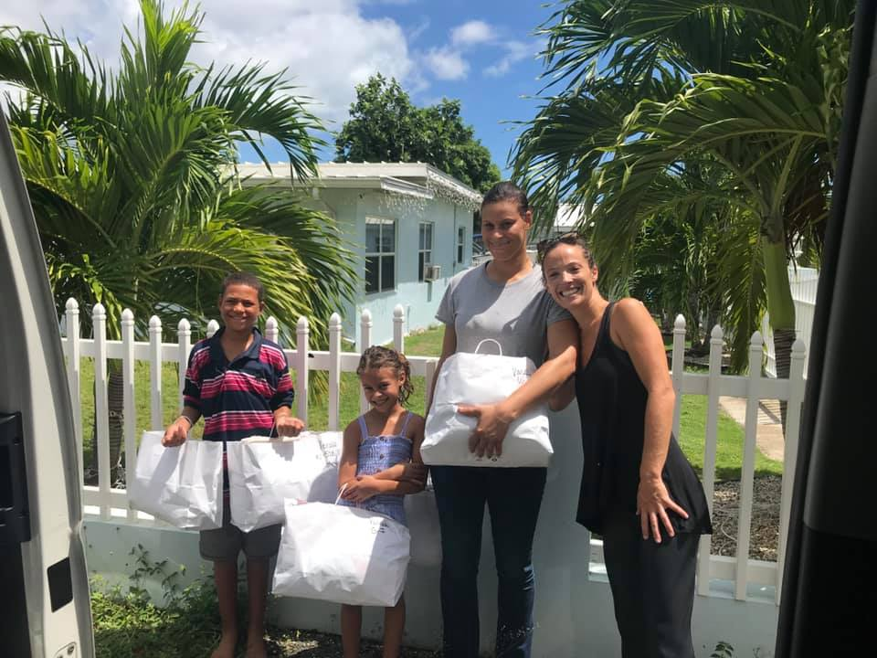 family receives donations