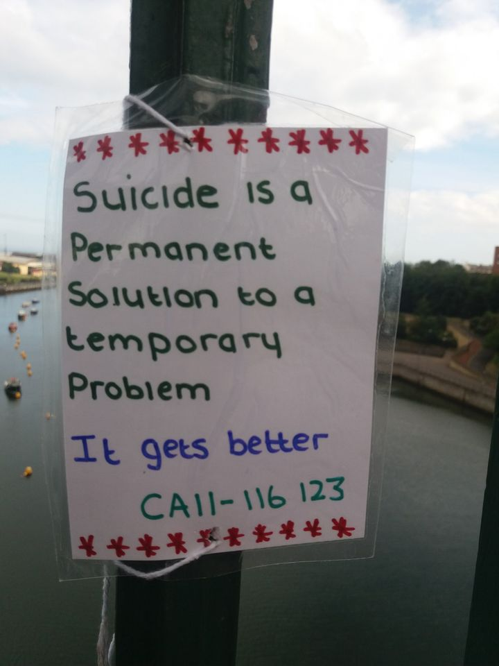 suicide prevention note