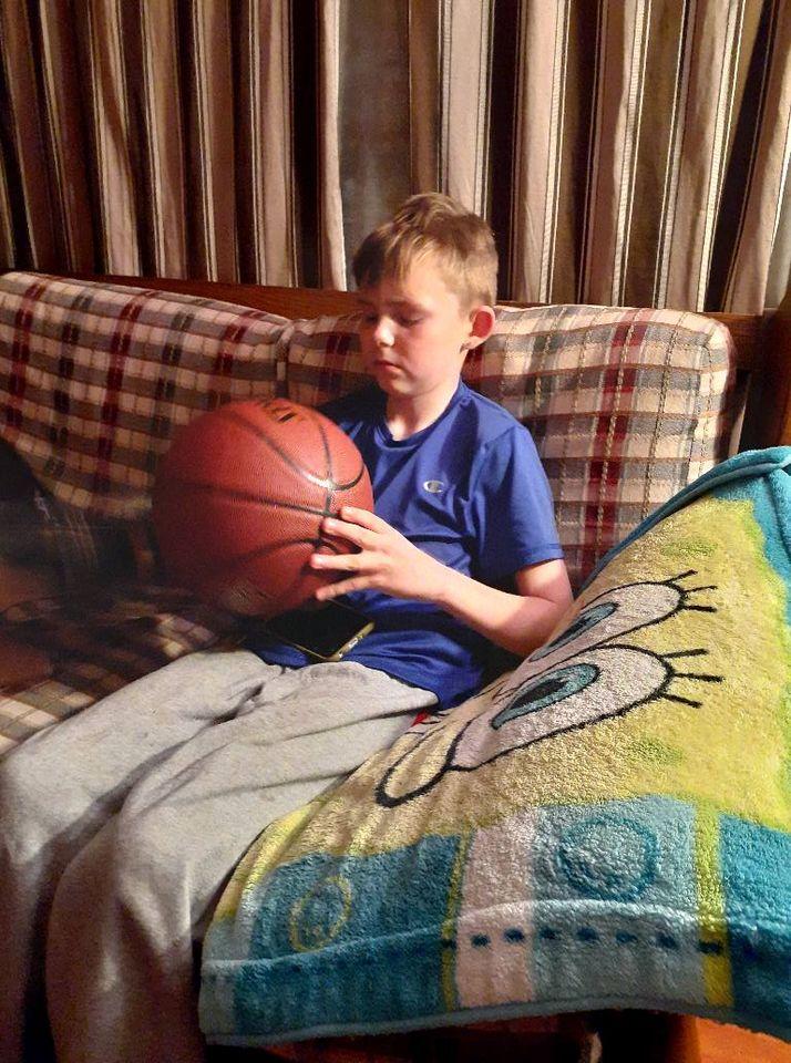elijah with basketball