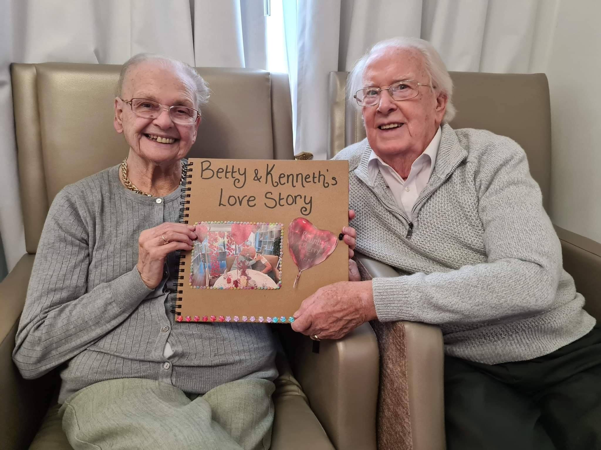 betty and ken with scrapbook