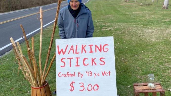john sells walking sticks