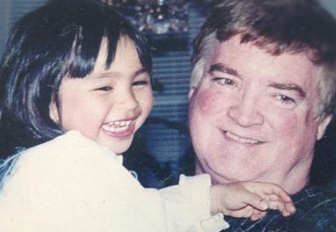 young kat with her dad