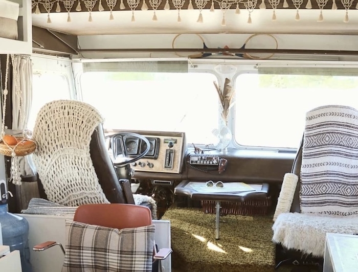camper's front seats
