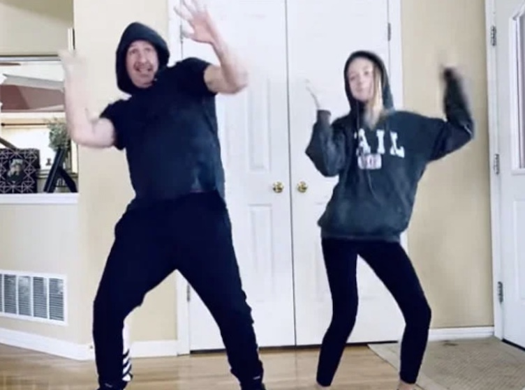 dad and daughter dance-off