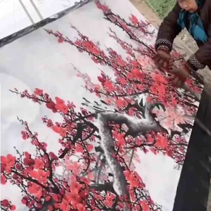 grandma's blossom painting