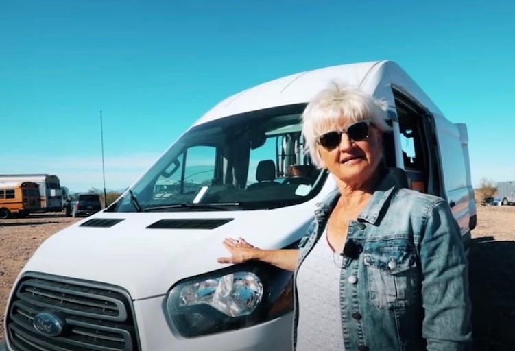 virginia and her van