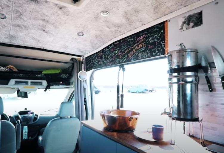 front of virginia's van