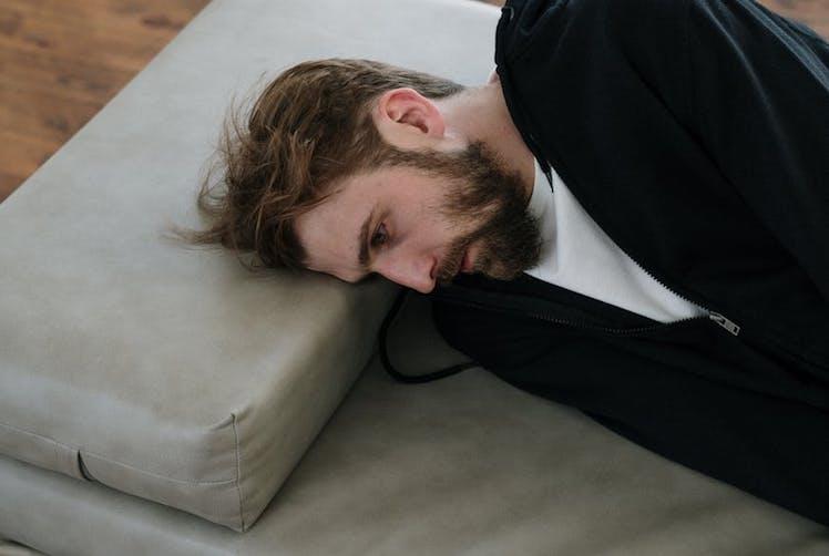 man laying down