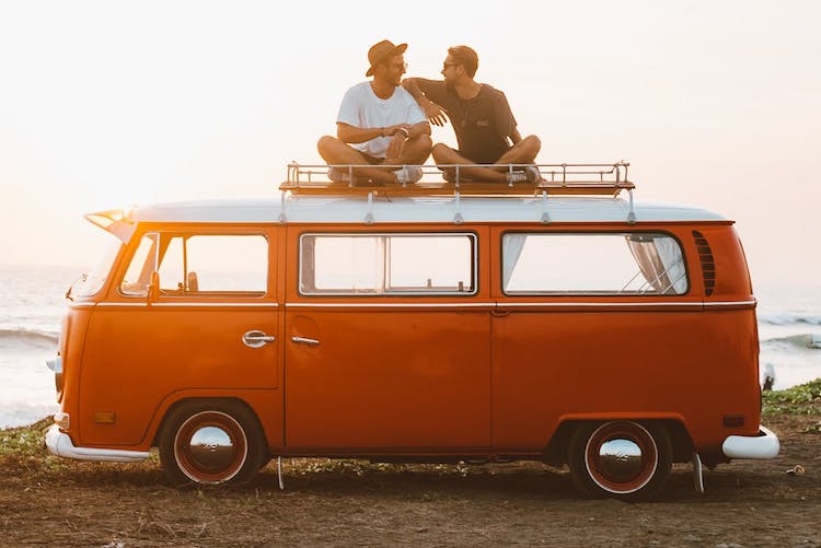 two men on a van