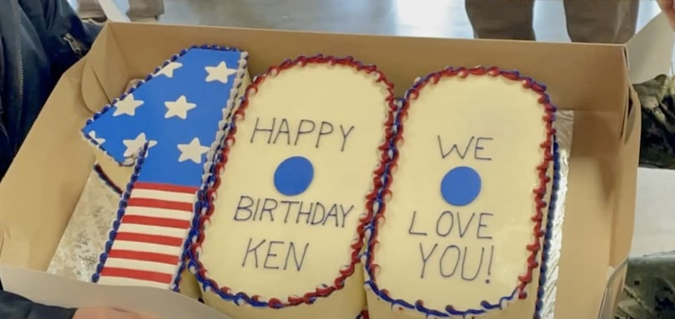 one-hundredth birthday cake