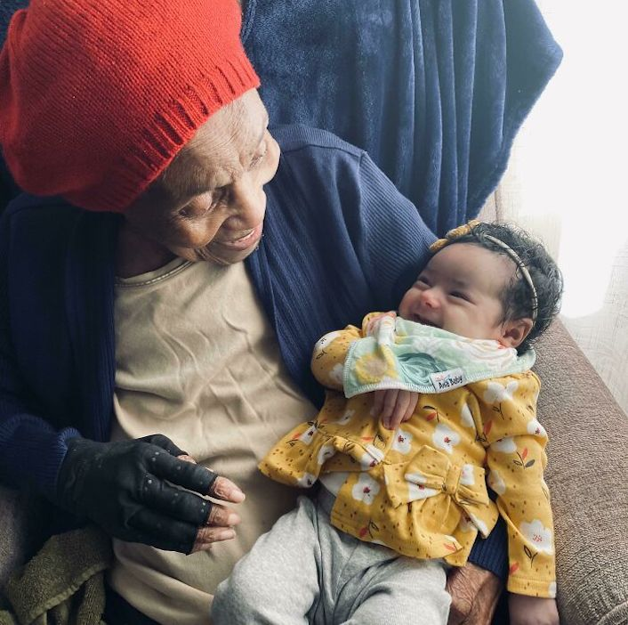 great great grandma and baby