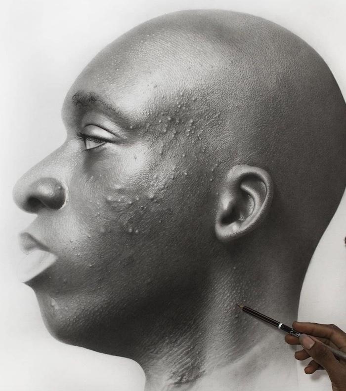 realistic portrait of man