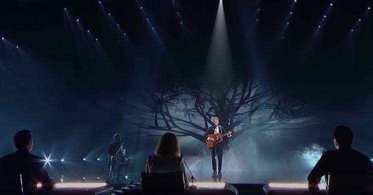 hunter singing for american idol judges