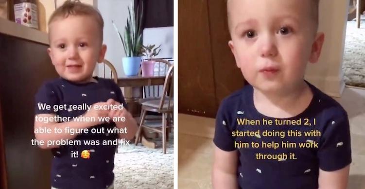 little boy self-soothing