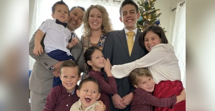 family with seven adopted children