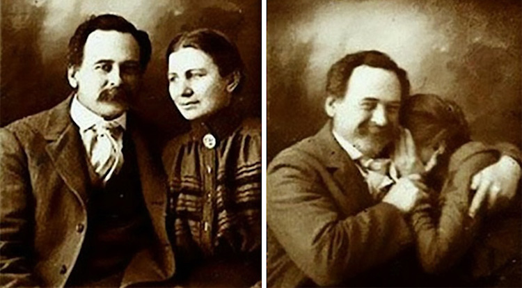 victorian couple laughing