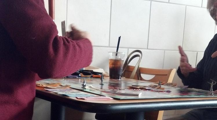 couple playing monopoly