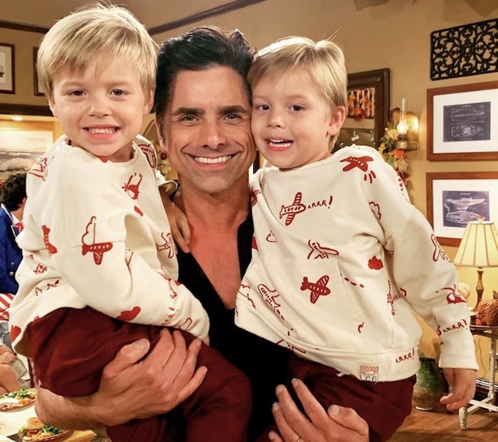 twin boys with john stamos