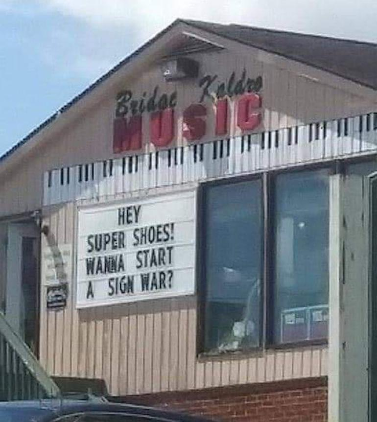 music store sign